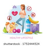 healthy lifestyle habits... | Shutterstock .eps vector #1752444524