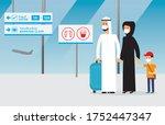 arab family traveling taking... | Shutterstock .eps vector #1752447347