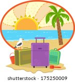 vacation icon   cute vacation... | Shutterstock .eps vector #175250009