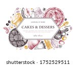 fruits cakes cooking process... | Shutterstock .eps vector #1752529511