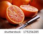 Sicilian Red Oranges Cut On Th...