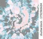 tie dye spiral vector.... | Shutterstock .eps vector #1752583634