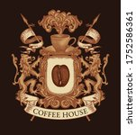 coat arms for coffee house in... | Shutterstock .eps vector #1752586361