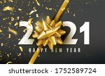 2021 happy new year vector... | Shutterstock .eps vector #1752589724