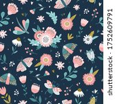 colorful seamless pattern with... | Shutterstock .eps vector #1752609791