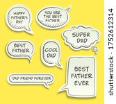 vector father's day with hand...   Shutterstock .eps vector #1752612314