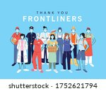 thank you essential workers ...   Shutterstock .eps vector #1752621794