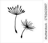 vector illustration dandelion... | Shutterstock .eps vector #1752622007