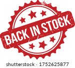 back in stock rubber stamp. red ...   Shutterstock .eps vector #1752625877