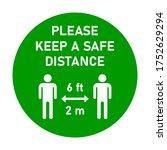 please keep a safe distance 6... | Shutterstock .eps vector #1752629294