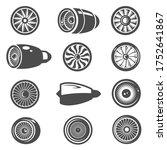 turbine  turbomachine black and ... | Shutterstock .eps vector #1752641867