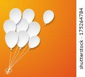 white paper balloons on the... | Shutterstock .eps vector #175264784