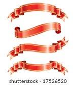 elegance ribbon banner set of... | Shutterstock .eps vector #17526520