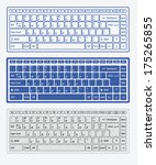 computer keyboards for using in ... | Shutterstock .eps vector #175265855