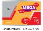 mega sale offer promotion... | Shutterstock .eps vector #1752676721