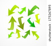 green arrows set on white... | Shutterstock . vector #175267895
