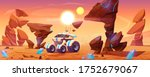 mars rover on red planet... | Shutterstock .eps vector #1752679067