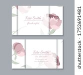 business card with floral... | Shutterstock .eps vector #1752691481