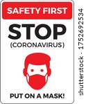 warning sign without a face... | Shutterstock .eps vector #1752692534