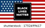 black lives matter calligraphic ...   Shutterstock .eps vector #1752699617
