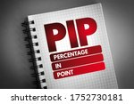 Small photo of PIP - Percentage In Point acronym, business concept background