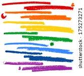 set of hand drawn highlighting...   Shutterstock .eps vector #175273271