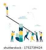 vector illustration  groups of... | Shutterstock .eps vector #1752739424