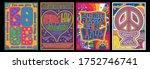 love lettering hippie style... | Shutterstock .eps vector #1752746741