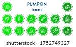 Editable 14 Pumpkin Icons For...