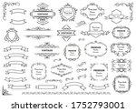 calligraphic design elements ....   Shutterstock .eps vector #1752793001