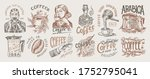 coffee shop logo and emblem.... | Shutterstock .eps vector #1752795041