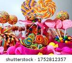 beautiful colorful lollipops ... | Shutterstock . vector #1752812357