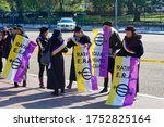 Small photo of Washington, D.C., USA - November 13, 2017: Activists are requesting ratification of the Equal Rights Amendment (ERA) in front of the White House.