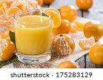portion of fresh made tangerine ... | Shutterstock . vector #175283129