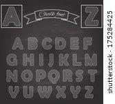 chalk font on retro chalkboard... | Shutterstock .eps vector #175284425