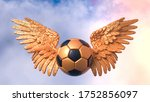 Black Orange Soccer Ball With...