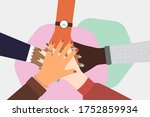 concept of cooperation ... | Shutterstock . vector #1752859934
