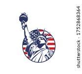 circle liberty logo with usa...   Shutterstock .eps vector #1752868364