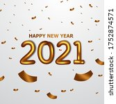 celebrate happy new year. party ... | Shutterstock .eps vector #1752874571
