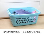 The Blue Laundry Basket Is In...