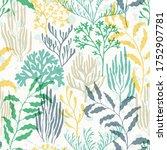 Coral Polyps Seamless Pattern....