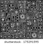 seamless pattern. sampler... | Shutterstock .eps vector #175291595