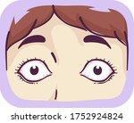 illustration of bulging eyes of ... | Shutterstock .eps vector #1752924824