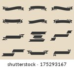 vector vintage ribbon set  ...   Shutterstock .eps vector #175293167