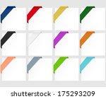 vector corner ribbons  ... | Shutterstock .eps vector #175293209