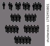 an illustration of ten groups... | Shutterstock . vector #1752953801