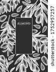 hand drawn sketch almond design ... | Shutterstock .eps vector #1752957257