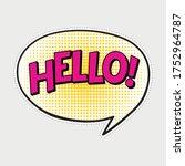 hello comic text sound effect... | Shutterstock .eps vector #1752964787