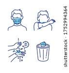 covid19 prevention   hygiene... | Shutterstock .eps vector #1752994364