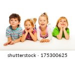 fur happy little kids inlaying... | Shutterstock . vector #175300625
